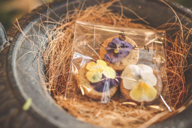 お花クッキー 引き菓子 エディブルフラワー